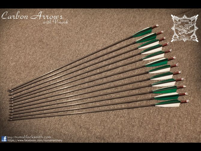Archery stuff Carbon V nock arrows 1 arrow_carbon_2