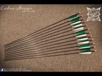 Carbon V nock arrows